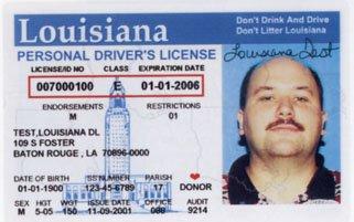 Louisiana Driver's lIcense